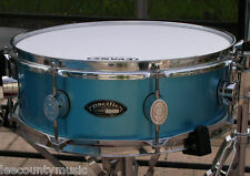 """PACIFIC PDP by DW 14"""" LX MAPLE SERIES BLUE LACQUER SNARE DRUM for DRUM SET #R364"""