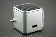 Silver Cube fad design portable radio small audio MP3 Walkman music player FT