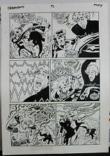 JACK KIRBY'S TEENAGENTS #3 PAGE 14 1993 ORIGINAL ART-NEIL VOKES & JOHN BEATTY Comic Art