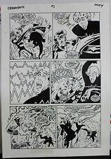 JACK KIRBY'S TEENAGENTS #3 PAGE 14 1993 ORIGINAL ART-NEIL VOKES & JOHN BEATTY