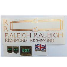 Raleigh Richmond 1980s  decal set British vintage