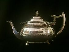 Antique Charles Fox William IV English Sterling Silver Teapot London 1825