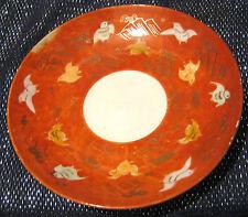 Asiatici Cina piattino con UCCELLINO vivaci e design MONTAGNA diametro circa 5 1/2 INS