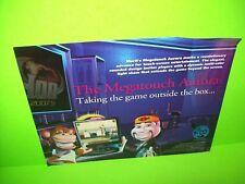 Merit MEGATOUCH AURORA 2007 Video Arcade Promo Sales Flyer Bar Countertop Game