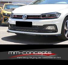 CUP Spoilerlippe SCHWARZ für VW Polo GTI MK6 Frontspoiler Spoilerschwert V2