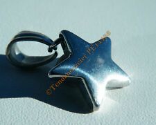 Pendentif Etoile 5 Branches Star 3D Acier Inox + Chaine