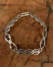 """Sterling Silver Celtic Knot Link Bracelet Size 6.5"""""""
