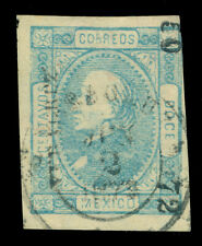 MEXICO 1872 Hidalgo 12c blue  Watermarked - VERACRUZ - 50  72 consg. Sc# 82 used