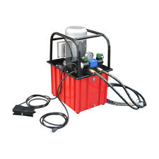 10000 Psi Electric Hydraulic Pump Double Acting Solenoid Valve Foot Operated