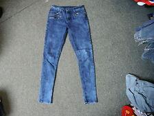 "Rock & Revival Skinny Jeans Size 10 Leg 30"" Faded Dark Blue Ladies Jeans"