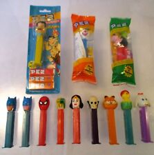 LOT 12 PEZ DISPENSER BATMAN WONDER WOMAN SKULL SPIDER-MAN LAMB GOOFY FLINTSTONES