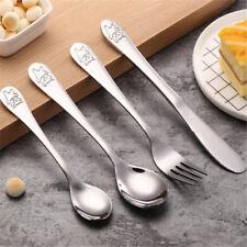Children Tea Spoon Set Stainless Steel  Fork Spoon Tableware SL
