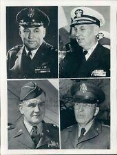 1953 Korean War Maj Gen George Finch Adm J C Daniel W K Harrison Press Photo