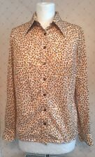 "Vintage Groovy 1970s St Michael Marks & Spencers Ladies Nylon Shirt 38"" Bust"