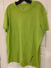 Reebok Crossfit Lime Green Athletic Workout Shirt Size XL