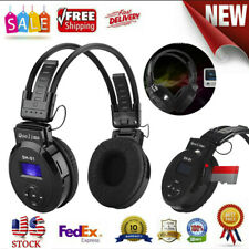 FM Radio Wired & Wireless Mode Headphones With Mic HiFi Stereo Foldable Headset