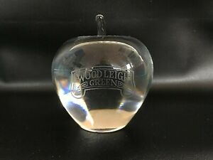 Royal Krona full lead crystal Apple paperweight in excellent condition
