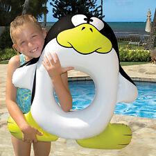 Kids Swim Ring Pool Float - Pool Tube, toy, Learn to Swim - Penguin - AquaFun