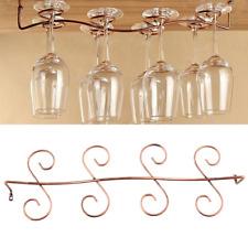 8 Wine Glass Rack Stemware Under Cabinet Holder Hanger Shelf Bar KitchenDisplay*