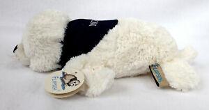 Plüsch Robbe FLAPSCH 27cm Länge beige mit Halstuch Moin Seehund Heuler