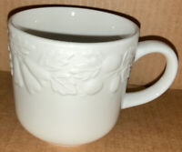 "Gibson Embossed Raised Fruit Vintage 3"" Coffee Tea Cup 8oz EUC Minty FREE SHIP"