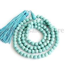 New 6mm Turquoise 108 Prayer Tibetan Buddhist Beads Mala Bless Bracelet Necklace