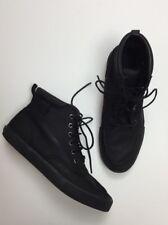 Polo Ralph Lauren TEDD Size 9 1/2 Leather Boots Black Lace Up Shoes Men's