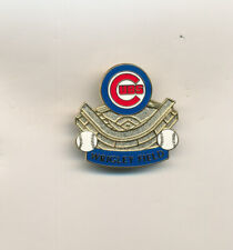 Chicago Cubs Wrigley Field Gold Stadium MLB Baseball Pin