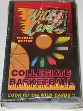 1991/92 Wild Card Collegiate Basketball Premier Edition 36-Pack Box New & Sealed