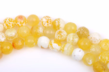 8mm YELLOW AGATE Round Beads, Agate Gemstone Beads, Faceted, full strand gag0223
