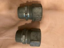 """2 Crouse Hinds 1"""" CGB cable gland grommet fitting"""
