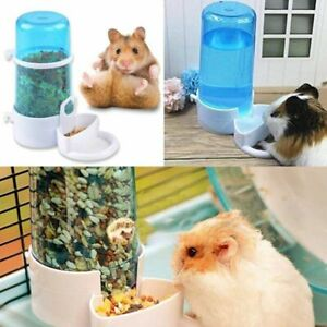 Automatic Hamster Feeder Food/Water Bottle Dispenser Dish Bowl Guinea Pig Rabbit