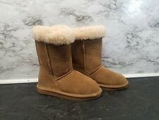 Bearpaw Girls Boots Winter NEW Size 3 Youth Hickory Suede Wool Youth Warm Cute
