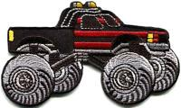 Monster truck 4 X 4 pickup auto racing ute applique iron-on patch new S-1130