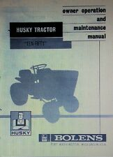 Bolens FMC Husky Ten-Fifty 1050 Lawn Riding Garden Tractor Operator Manual 12pg