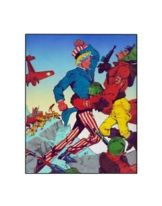 Uncle Sam Purple Mountain Majesty! ..Quality comics Golden Age style Sericel
