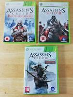 Bundle of 3 x XBOX 360 - Assassins Creed Games : Brotherhood, 2 & 3 PAL