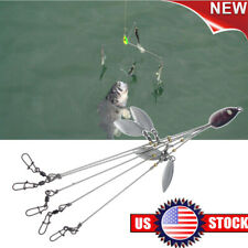 Best Quality Alabama Rig 5 Arms 4 Blades Umbrella Rig Fishing Bait 21.5cm in USA