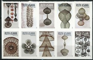 RUTH ASAWA MNH Block of 10 FOREVER STAMPS Scott's 5504 to 5513
