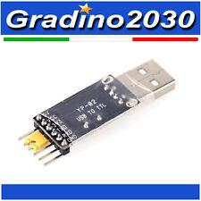 USB 2.0 to TTL rs232 3,3v 5v ch340 Adattatore Serial converter Arduino RX TX