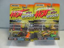 Matchbox Hot Stocks Pit-Stop Action Playset lot of 2