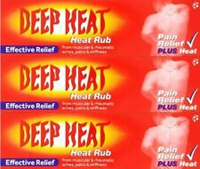 3 X DEEP HEAT CREAM RUB 100G. FAST RELEIF FOR MUSCULAR ACHES AND PAINS.