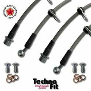 Fits 84-89 Nissan 300ZX Techna-Fit Stainless Brake Lines Kit Made In USA