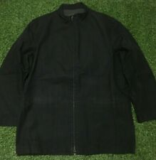 Men's Ermenegildo Zegna Black Jacket Size L/52 Made In Italy