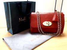Mulberry Medium Lily Red Grain Leather Handbag