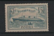 "FRANCE STAMP TIMBRE 300b "" PAQUEBOT NORMANDIE 1F50 TURQUOISE "" NEUF xx LUXE T219"