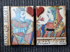 """Sid Dickens Memory 2005 Tile Block T157/T161 """"King & Queen of Hearts"""" Retired"""