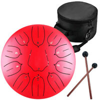 10'' Steel Tongue Drum Handpan C Major 11 Notes Scale Tankdrum With Bag Mallets