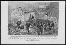 1892 Antique Print - CORSICA Brigands Gendarmes Bellacoscia Brothers Lanos  (79)