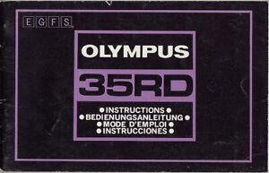 Olympus Bedienungsanleitung für Olympus 35 RD, deutsch, english #su